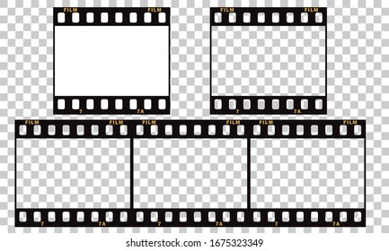 Film tape, 35 film strip frame background template vector EPS 10