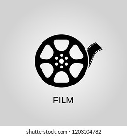Film tape icon. Film tape symbol. Flat design. Stock - Vector illustration.