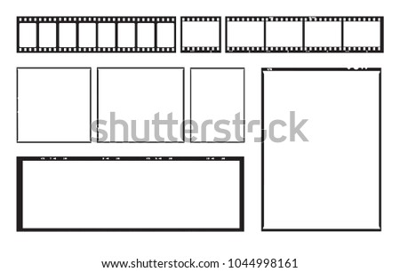 film template frames empty developed black のベクター画像素材
