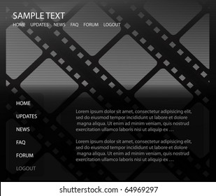 Film vector background  template - Cinema background vector design  illustration