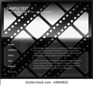Film vector template - Cinema background vector design layout