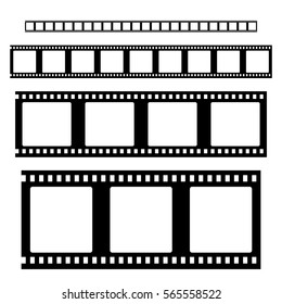 Filmstrip  set  vector