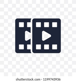 filmstrip transparent icon. filmstrip symbol design from Cinema collection. Simple element vector illustration on transparent background.