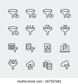 Filter data icon