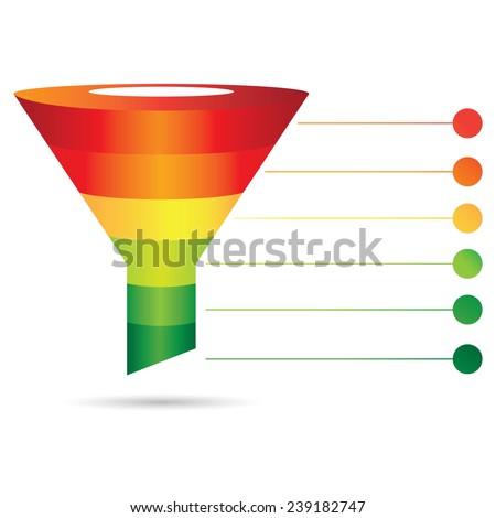filter diagram funnel diagram sale marketing のベクター画像素材