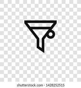 filter icon from miscellaneous collection for mobile concept and web apps icon. Transparent outline, thin line filter icon for website design and mobile, app development