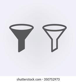 Filter icon set . Vector illustration