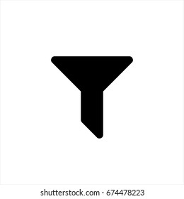 Filter icon in trendy flat style isolated on background. Filter iconn page symbol for your web site design Filter icon logo, app, UI. Filter icon Vector illustration, EPS10.
