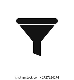Filter icon vector. Simple funnel sign