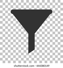 Filter simple sign. Dark gray icon on transparent background.