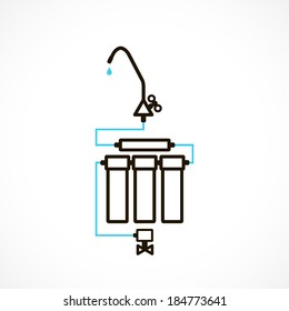 filters to purify your drinking water, icon isolated on a white background for your design