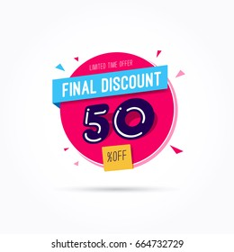 Final Discount 50% Off Label