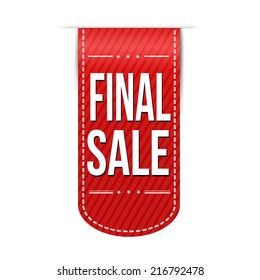 Final sale banner design over a white background, vector illustration