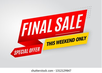 Final sale banner red design.