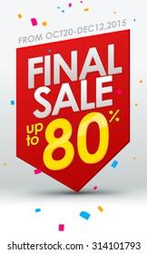 Final sale banner. Vector template