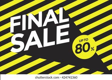 Final sale banner.Vector illustration