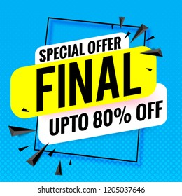 final sale special offer banner template