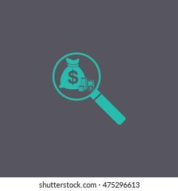 finance analysis icon. Flat design style eps 10