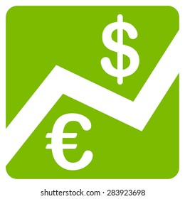 Finance from BiColor Euro Banking Icon Set. Vector style: flat, eco green symbol, rounded angles, white background.