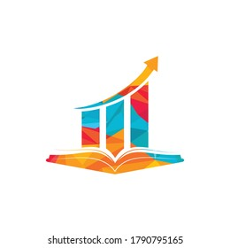 Finance book logo design. Business growth education logo design.