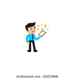 Finance Character Logo Template