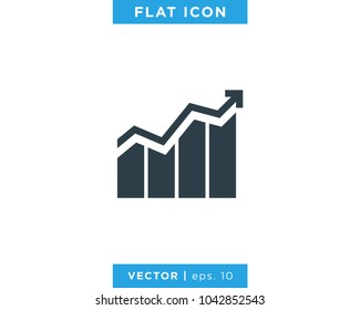 Finance, Chart, Business growth, Analytic Icon Vector Logo Design Template
