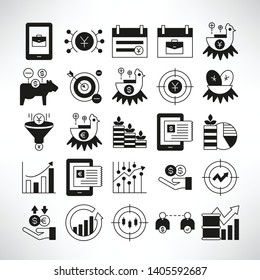 finance and fund management icons
