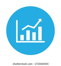 finance graph icon isolated vector