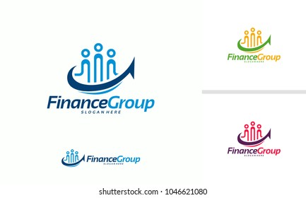 Finance Group logo designs concept vector, Finance Forum logo template designs