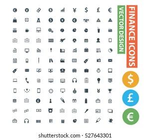 Finance icon set,clean vector