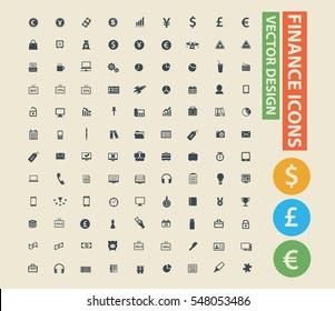 Finance icon set,vector