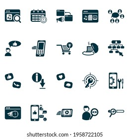 Finance icons set with immediate response, target keyword, site navigation and other community elements. Isolated vector illustration finance icons.