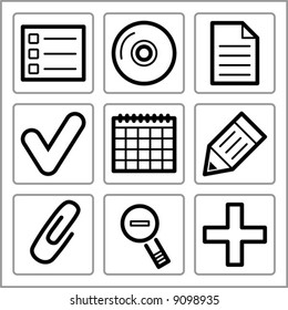Finance icons set. Vector.