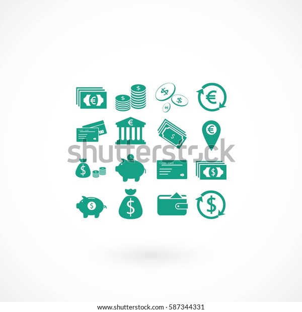 Finance Icons vector, flat design best vector icon