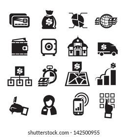 Finance Icons. Vector illustration