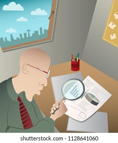 finance inspector on the work