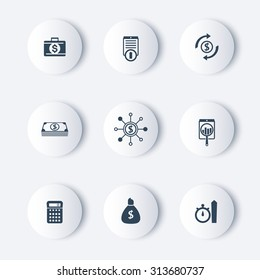 finance, investments, fund round modern icons, vector illustration, eps10, easy to edit