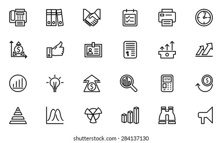 Finance Line Vector Icons 4
