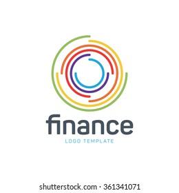 Finance logo. Business logo. Target logo. Money logo. Company logo. Commercial logo. Banking logo