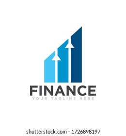 Finance Logo Design Vector Illustration