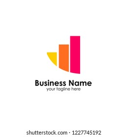 Finance logo template. accounting logo template. charts icon