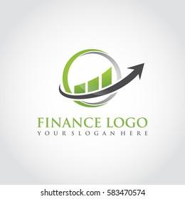 Finance Logo Template. Vector Illustrator Eps.10