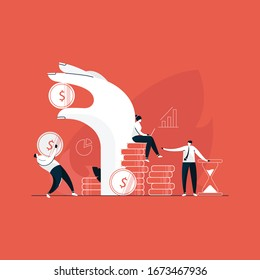 finance management, hand holding money