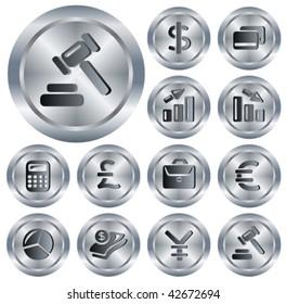 Finance metallic buttons