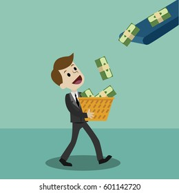 Finance and money, Business has a profit.