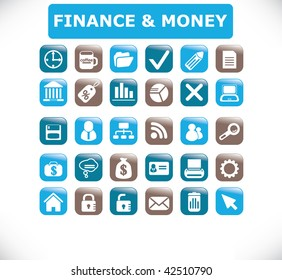 finance & money buttons. vector