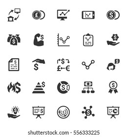 Finance & Money Icons - Gray Series (Set 4)