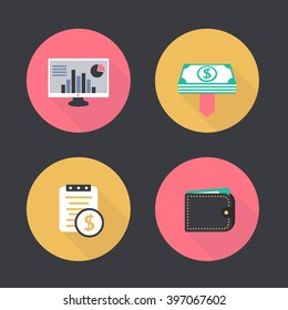 cost structure report images stock photos vectors shutterstock https www shutterstock com image vector finance payroll flat icons pictogram wallet 397067602