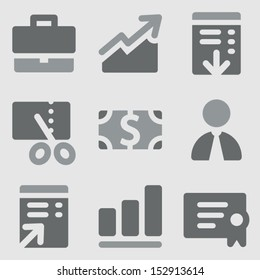 Finance set 1 web icons grayscale icons