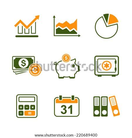 finance simple vector icon set diagram stock vector royalty free